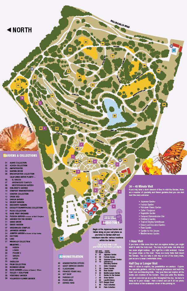 Garden Map South Coast Botanic Garden Foundation - Us botanic garden map