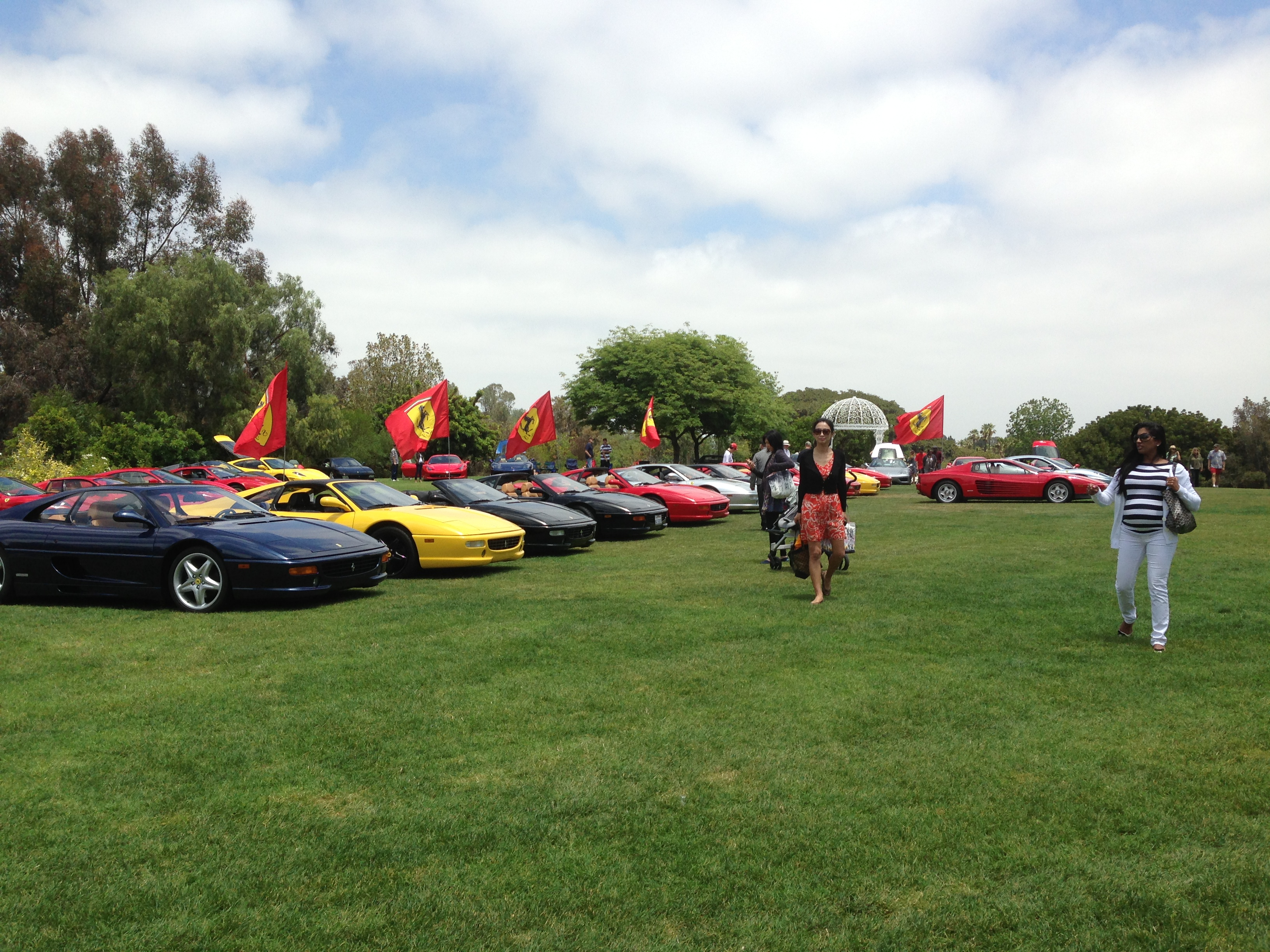FERRARI CAR SHOW South Coast Botanic Garden Foundation - Palos verdes car show