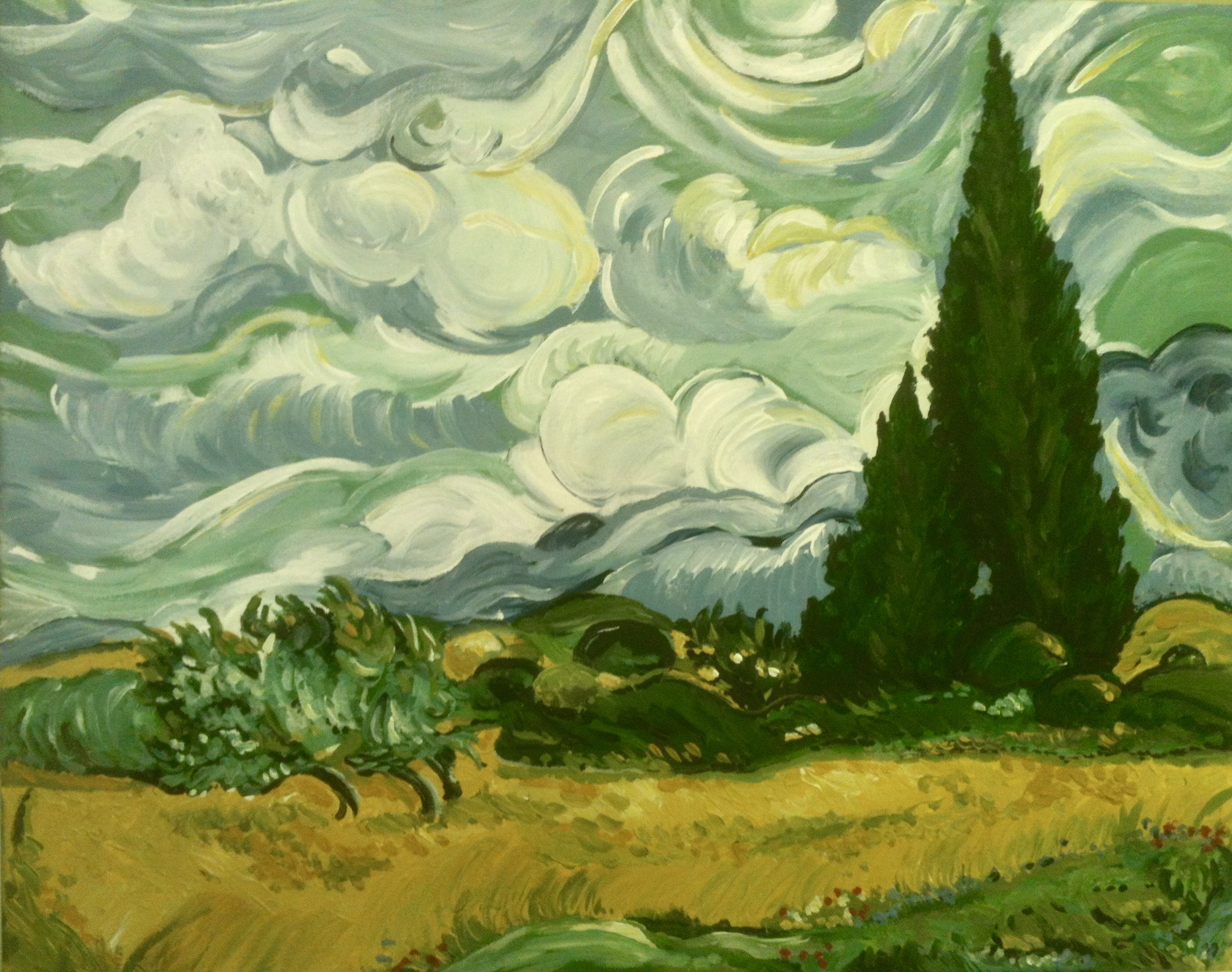 Painting In The Style Of A Master Van Gogh Textural Landscapes